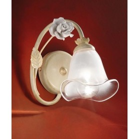 Ferroluce Siena C1180 AP SX Lampada Parete in Ceramica 1 Luce