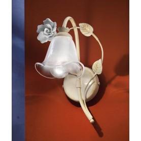 Ferroluce Siena C1181 AP SX Lampada Parete in Ceramica 1 Luce