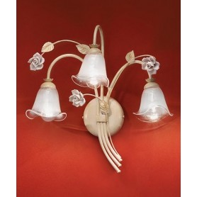 Ferroluce Siena C1183 AP Lampada Parete Rustica Ceramica 3 Luci