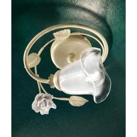 Ferroluce Siena C1184/1 PL Lampada Soffitto Ceramica 1 Luce