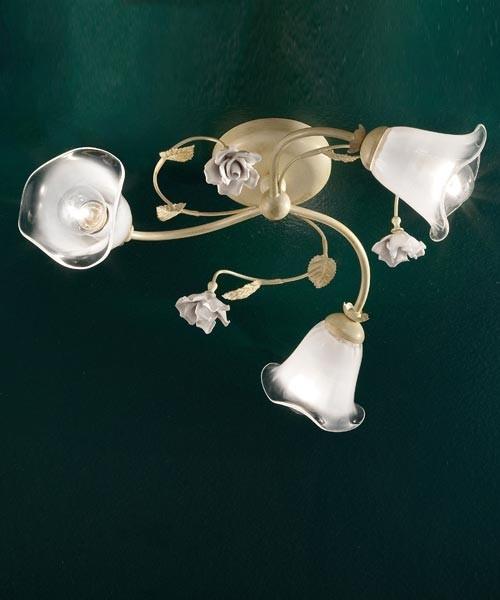 Ferroluce Siena C1184/3 PL Lampada Soffitto Ceramica 3 Luci