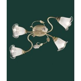 Ferroluce Siena C1184/4 PL Lampada Soffitto Ceramica 4 Luci