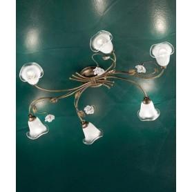 Ferroluce Siena C1184/6 PL Lampada Soffitto Ceramica 6 Luci