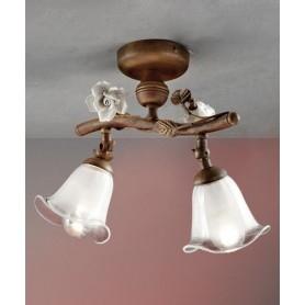 Ferroluce Siena C1186/2 PL Lampada Soffitto Ceramica 2 Luci