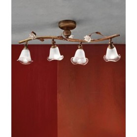 Ferroluce Siena C1186/4 PL Lampada Soffitto Ceramica 4 Luci
