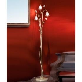 Ferroluce Siena C1190 TE Lampada Terra Rustica Ceramica 3 Luci