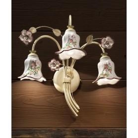 Ferroluce Pisa C1203 AP Lampada Parete in Ceramica 3 Luci