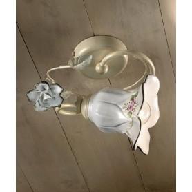 Ferroluce Pisa C1204/1 PL Lampada Soffitto Ceramica 1 Luce