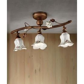 Ferroluce Pisa C1206/3 PL Lampada Soffitto Ceramica 3 Luci