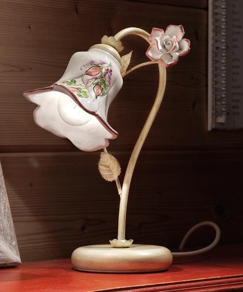 Ferroluce Pisa C1209 LU SX Lampada Tavolo in Ceramica 1 Luce