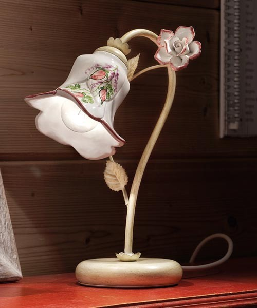 Ferroluce Pisa C1209 LU DX Lampada Tavolo in Ceramica 1 Luce
