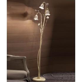 Ferroluce Pisa C1210 TE Lampada Terra Rustica Ceramica 3 Luci