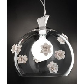 Ferroluce Recanati C1253 SO Lampadario Ceramica 1 Luce