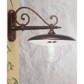 Ferroluce Latina A670 AP Lampada Parete Esterno 1 Luce 2 Colori