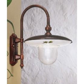 Ferroluce Latina A671 AP Lampada Parete Esterno 1 Luce 2 Colori