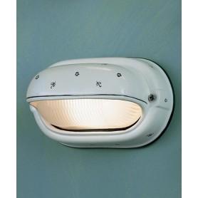 Ferroluce Brindisi C291 AP Lampada Parete Ceramica Esterno