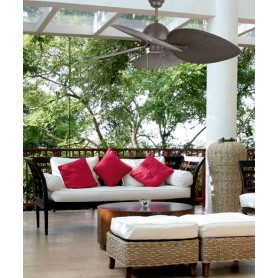 Faro Cuba 33352 Ventilatore da Soffitto Senza Luce Marrone