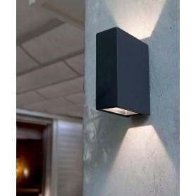 Faro Crata Lampada Parete da Esterno 2 Colori LED