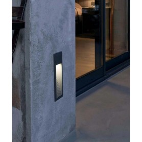 Faro Landai 70400 Lampada Incasso Parete da Esterno LED