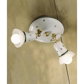 Ferroluce Treviso C278 PL Lampada Soffitto Ceramica 2 Luci