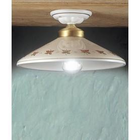 Ferroluce Asti C059 PL Lampada Soffitto Rustica in Ceramica