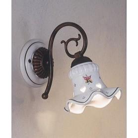 Ferroluce Chieti C169 AP Lampada Parete Rustica Ceramica 1 Luce