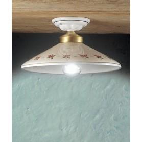 Ferroluce Asti C057 PL Lampada Soffitto Rustica in Ceramica
