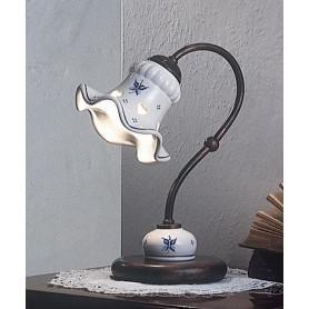 Ferroluce Chieti C173 LU Lampada Tavolo Rustica Ceramica 1 Luce