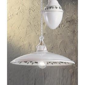 Ferroluce Torino C088 SO Saliscendi Lampadario Rustico Ceramica