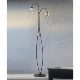 Ferroluce Chieti C174/2 TE Lampada Terra Ceramica 2 Luci