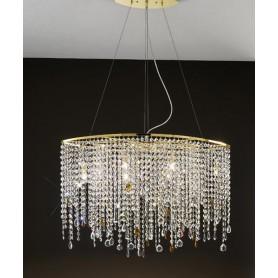 ANTEALUCE Alyssa Gold 6336.50 Lampadario Cristallo 5 Colori