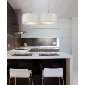 Artempo Blob 103B Larice Bianco Lampada Sospensione 2 Luci R.E