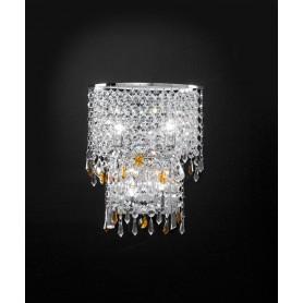 ANTEALUCE Alyssa 5734.30 Lampada Parete Cristallo 5 Colori