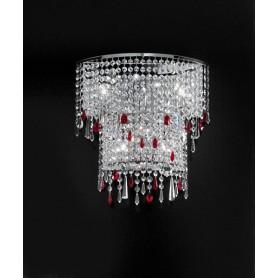 ANTEALUCE Alyssa 5734.45 Lampada Parete Cristallo 5 Colori