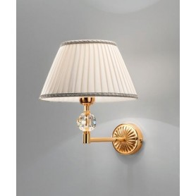 ANTEALUCE Grand Hotel 4694.3 Lampada Parete con sfera cristallo