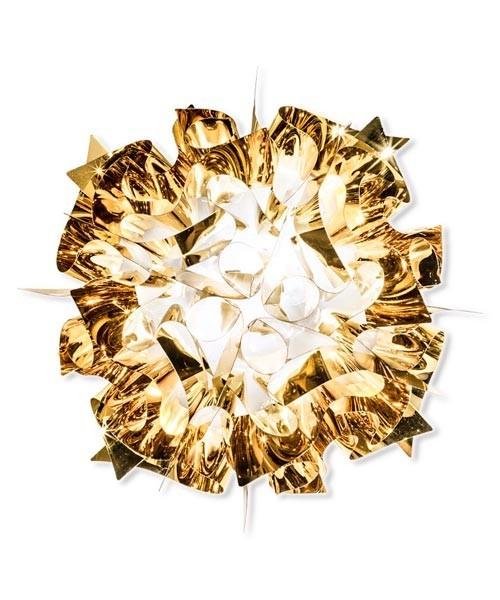 Slamp Veli Gold Lampada Parete/Soffitto 2 Luci R.E