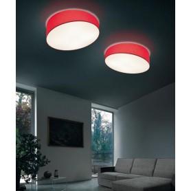 Morosini Pank PL90 E27 Lampada Soffitto Tessuto Diffondente