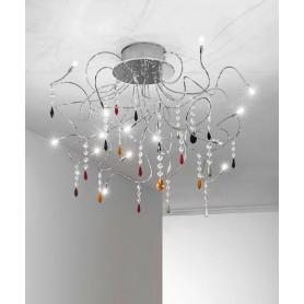 ANTEALUCE Sagitta Color 5572.15 20w Lampada Soffitto 15 Luci