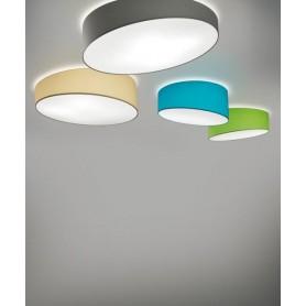 Morosini Pank PL60 LED Lampada Soffitto Tessuto Diffondente Led