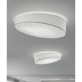 Morosini Pank PL120 E27 Lampada Soffitto Tessuto Diffondente