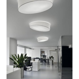 Morosini Pank PL120 LED Lampada Soffitto Tessuto Diffondente Led