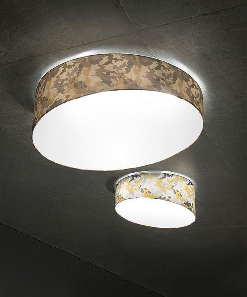 Morosini Pank PL90E Dim Camouflage Lampada Soffitto 5 Colori