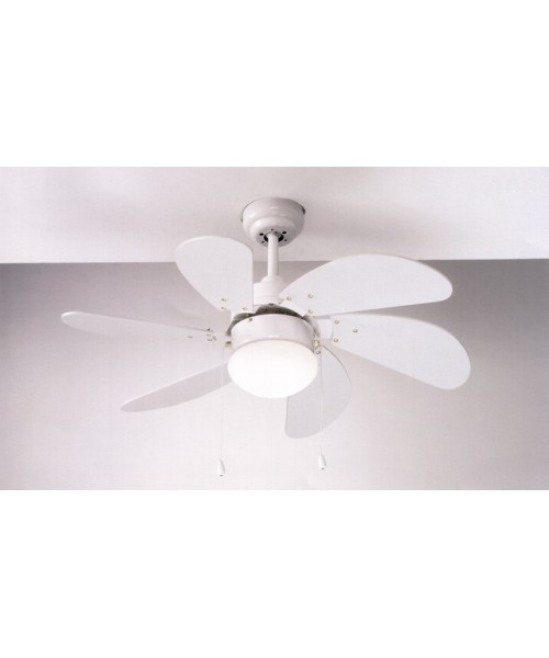 Perenz 7085-B Bianco Ventilatore da Soffitto
