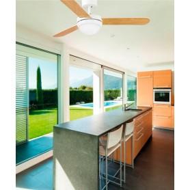 Faro Feroe 33600 Ventilatore da Soffitto con Luce Bianco