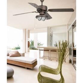 Faro Hierro 33356 Ventilatore da Soffitto con Luce Marrone
