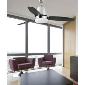 Faro Malta 33369 Ventilatore da Soffitto con Luce Nichel