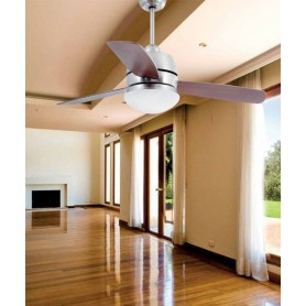Faro Maui 33407 Ventilatore da Soffitto con Luce Cromo