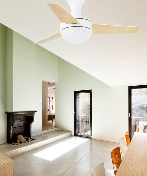 Faro Mini Ufo 33454 Ventilatore da Soffitto con Luce Bianco
