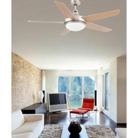 Faro Ovni 33137 Ventilatore da Soffitto con Luce Nichel