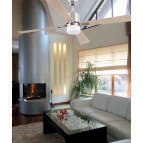Faro Palk 33470 Ventilatore da Soffitto con Luce Nichel